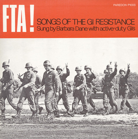 Barbara Dane  FTA! Songs of the GI Resistance (1970) CD