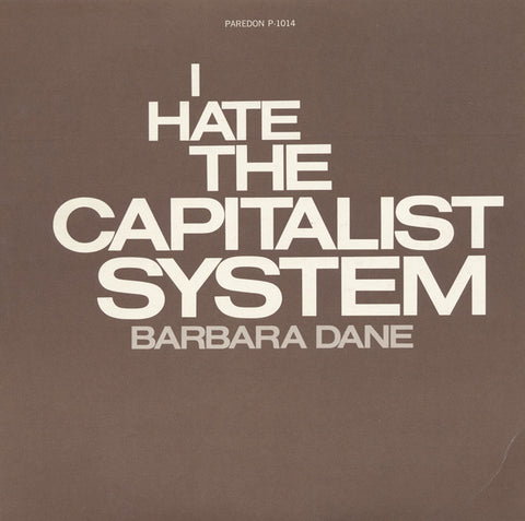 Barbara Dane  I Hate the Capitalist System (1973) CD
