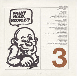 What Now People?, Vol. 3 with Kristen Lems, Malvina Reynolds, Pete Seeger, others (1977) CD