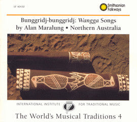 Wangga Songs by Alan Maralung CD