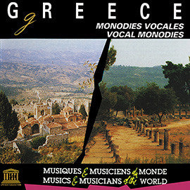 Greece: Vocal Monodies CD