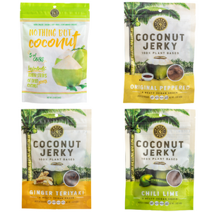 "Coconut Jerky / ""Nothing But Coconut"" Variety Pack (4 units)"