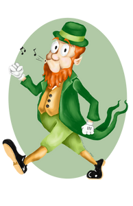 Old Timey Cartoon Leprechaun