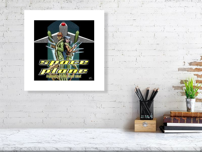 Space Plane: Legend Of The Lead Sled(original) Limited Edition Art Print - Hebkid Art