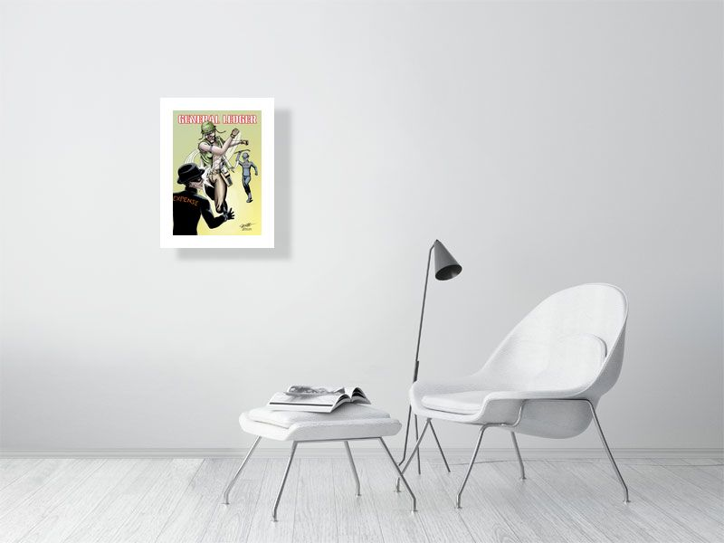 General Ledger Limited Edition Art Print - Hebkid Art