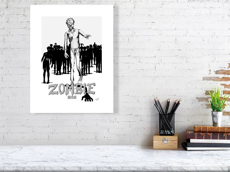 Zombie High Limited Edition Art Print - Hebkid Art