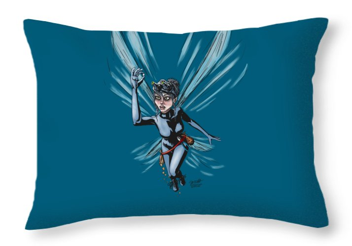 Operation Tooth Fairy - Throw Pillow - Hebkid Art
