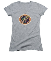 The Rings Of Saturn - Women's V-Neck - Hebkid Art