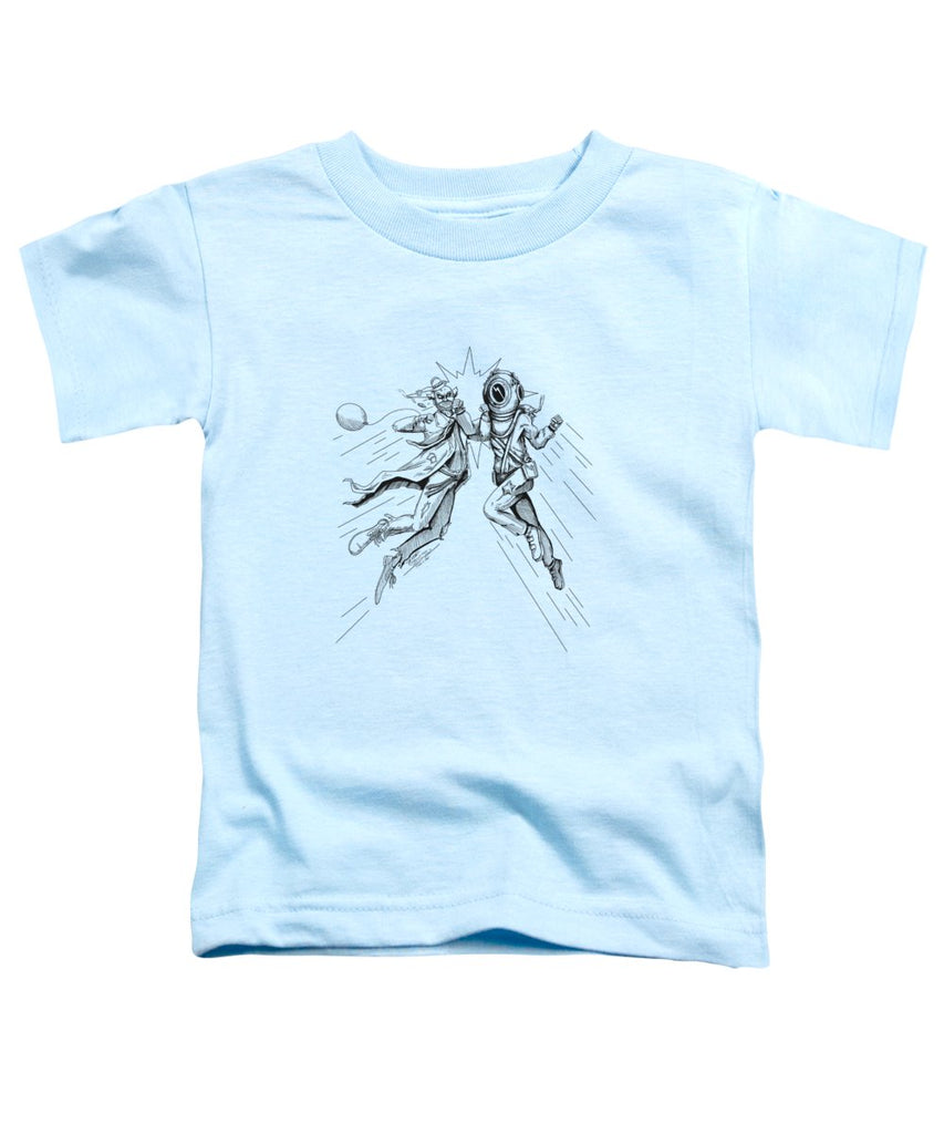 Bell Diver vs Hobo Clown - Toddler T-Shirt - Hebkid Art