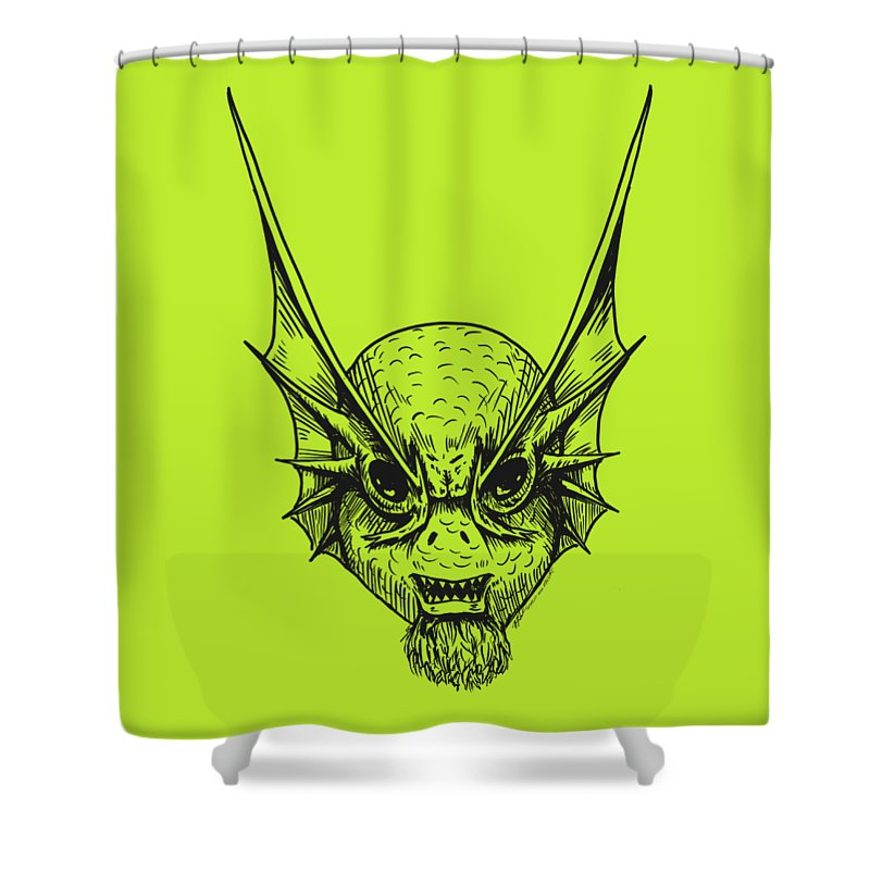Fishface - Shower Curtain - Hebkid Art