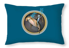 Hammerhead - Throw Pillow - Hebkid Art