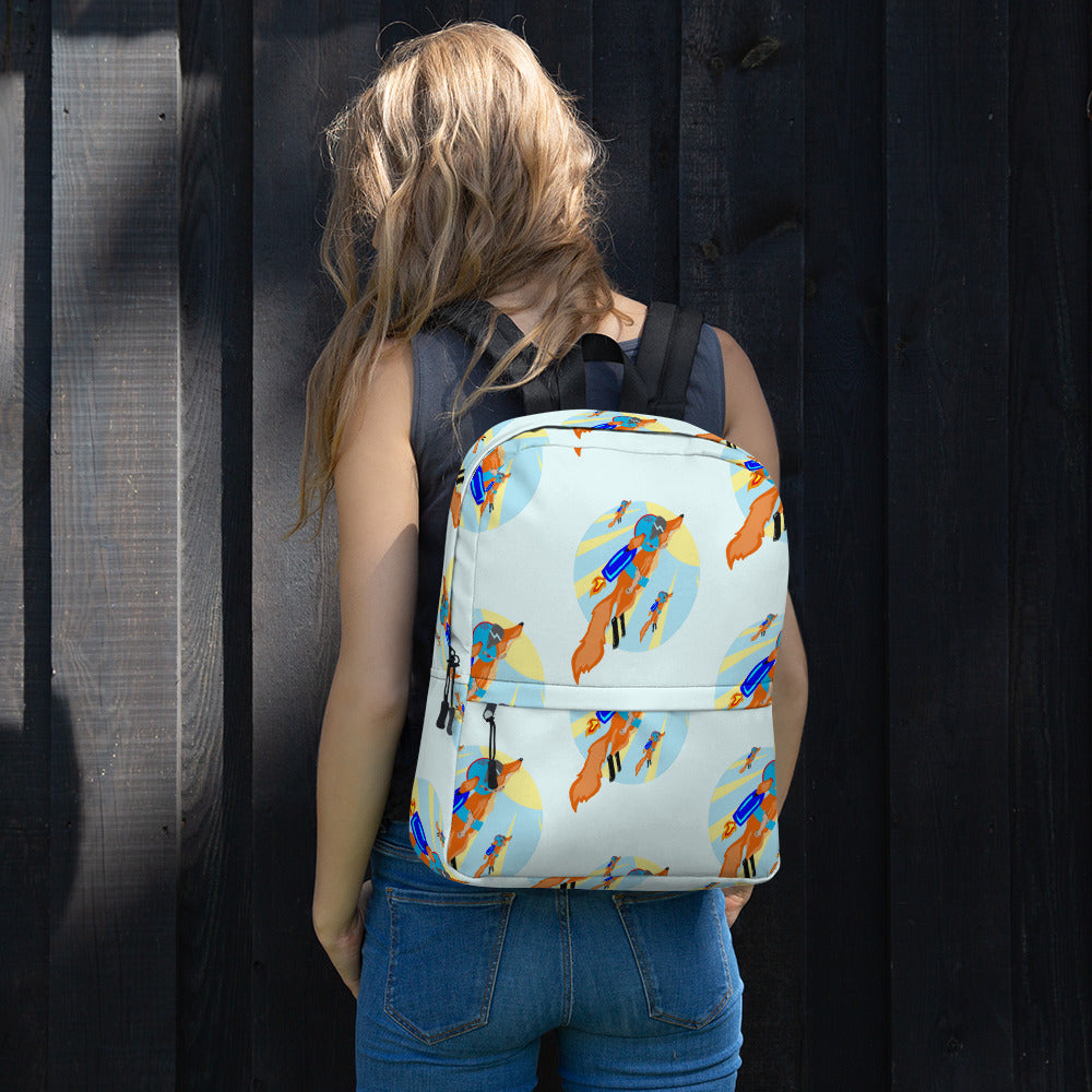 Rocket Fox Brigade Backpack - Hebkid Art
