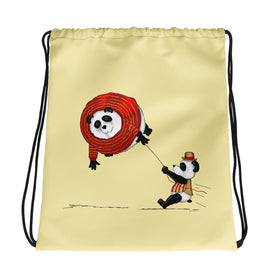 A Friend In Need Drawstring bag