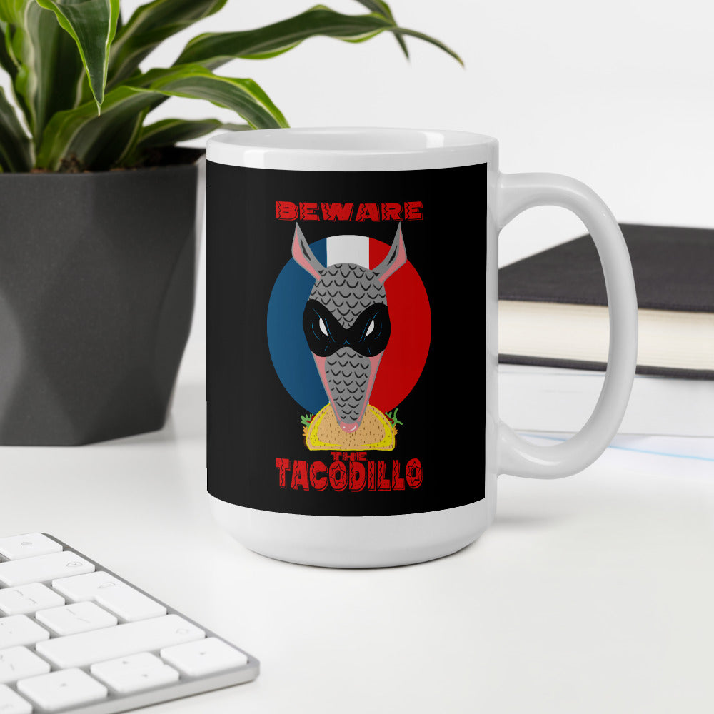 Beware The Tacodillo Mug - Hebkid Art