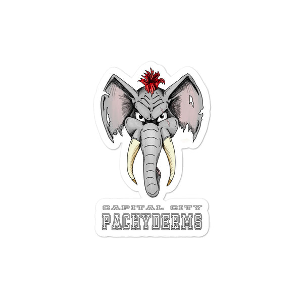 Capital City Pachyderms Bubble-free stickers
