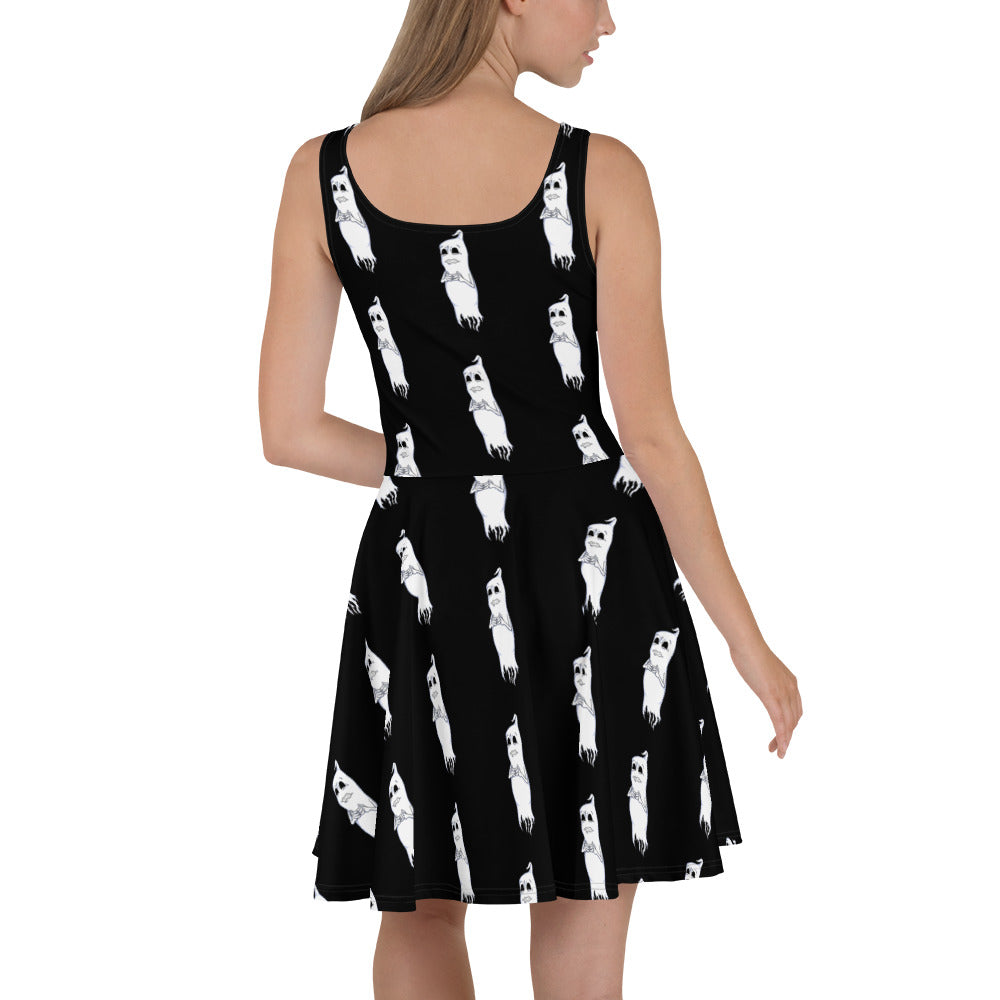Nervous Ghost Skater Dress