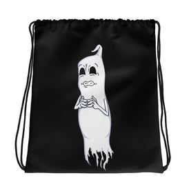 Nervous Ghost Drawstring bag