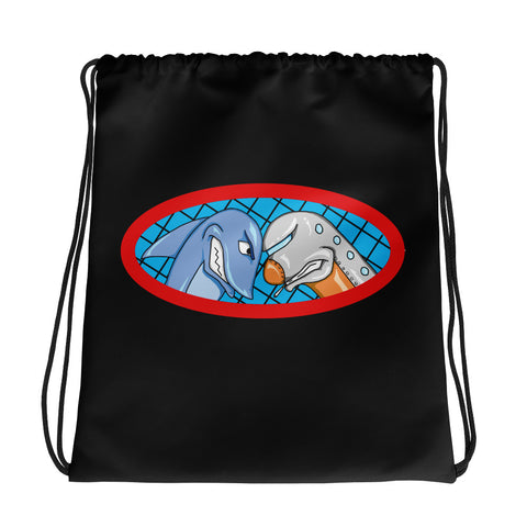 Sharks vs Jets Drawstring bag