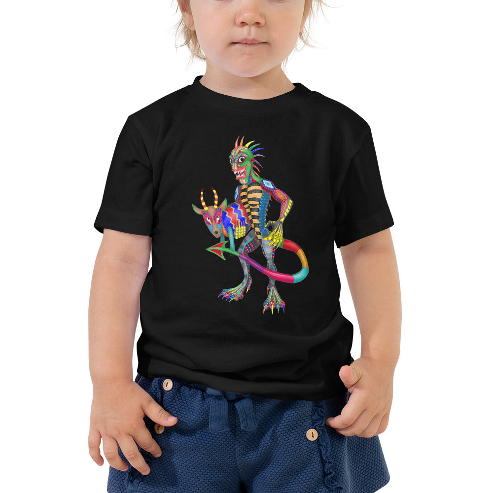 Chupacabra And Goat Toddler Short Sleeve Tee