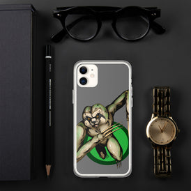 Berserker Sloth iPhone Case - Hebkid Art