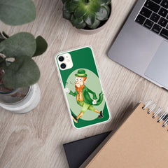 Old Timey Cartoon Leprechaun iPhone Case - Hebkid Art