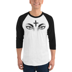 Ash Wednesday 3/4 sleeve raglan shirt