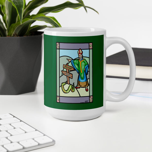 Saint Pat vs The Snake Mug