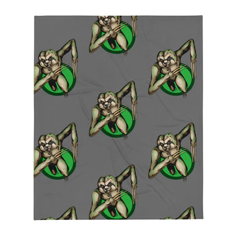 Berserker Sloth Throw Blanket