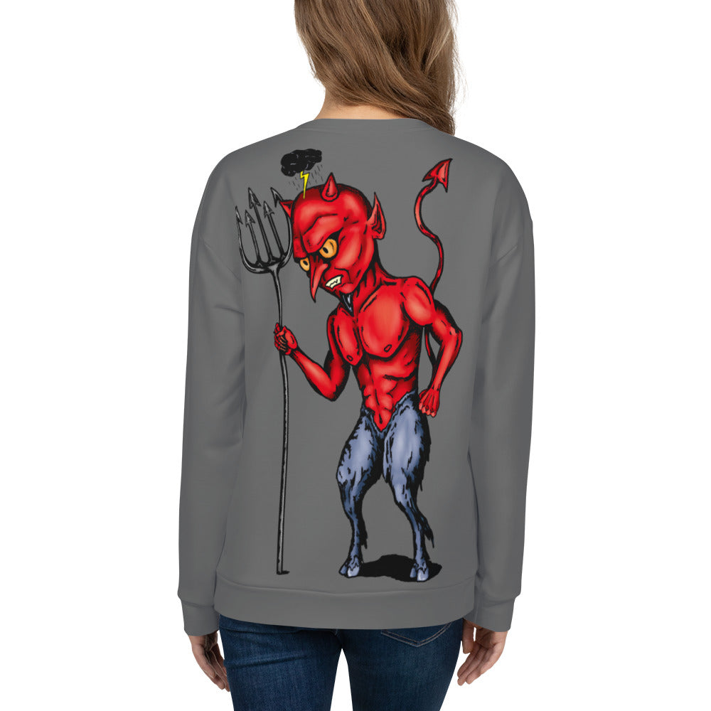 Little Devil Unisex Sweatshirt - Hebkid Art