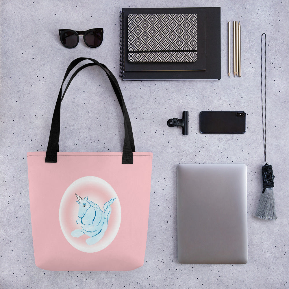 Cotton Candy Unicorn Tote bag - Hebkid Art