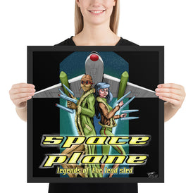 Space Plane: Legends Of The Lead Sled (saturated color)  Framed poster