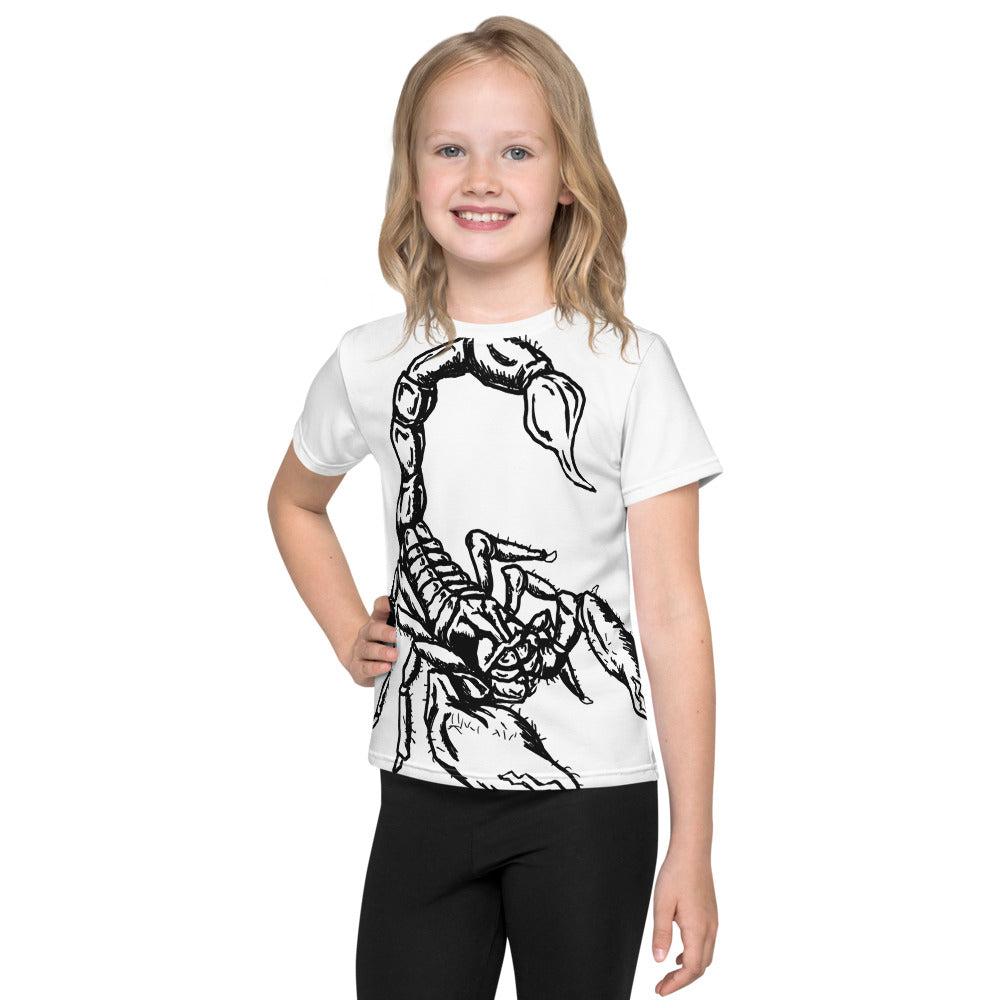 Scorpion All Over Print Kids T-Shirt - Hebkid Art