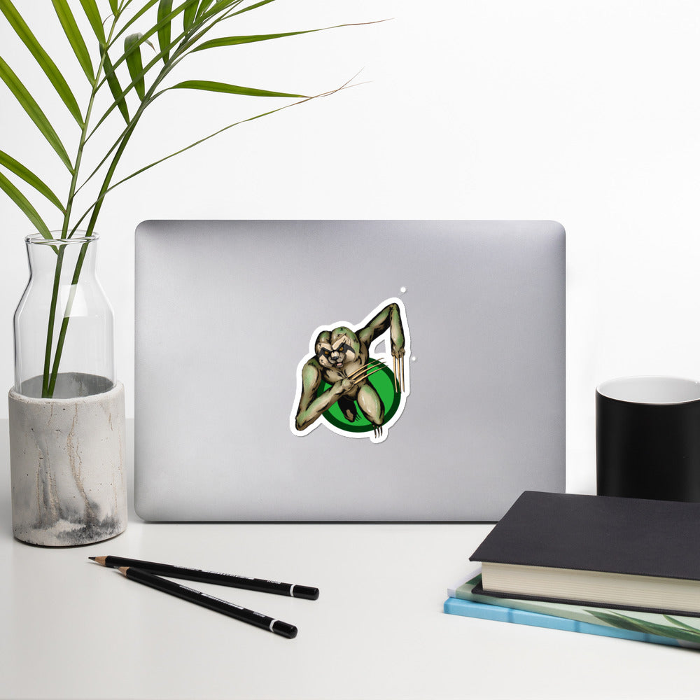 Berserker Sloth Bubble-free stickers - Hebkid Art