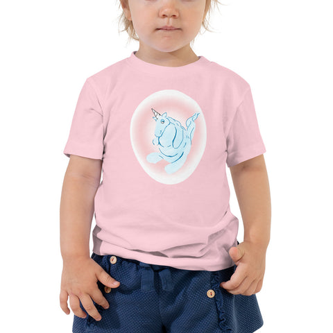Cotton Candy Unicorn Toddler Short Sleeve Tee