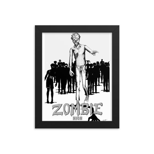 Zombie High Framed poster