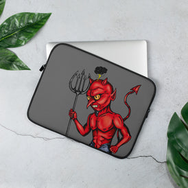 Little Devil Laptop Sleeve - Hebkid Art