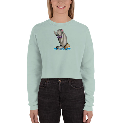 Siren Sea Cow Crop Sweatshirt