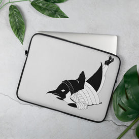 Breakdancin' Penguin Laptop Sleeve - Hebkid Art