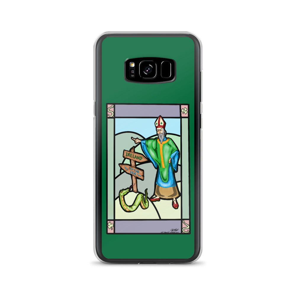 Saint Pat vs The Snake Samsung Case - Hebkid Art