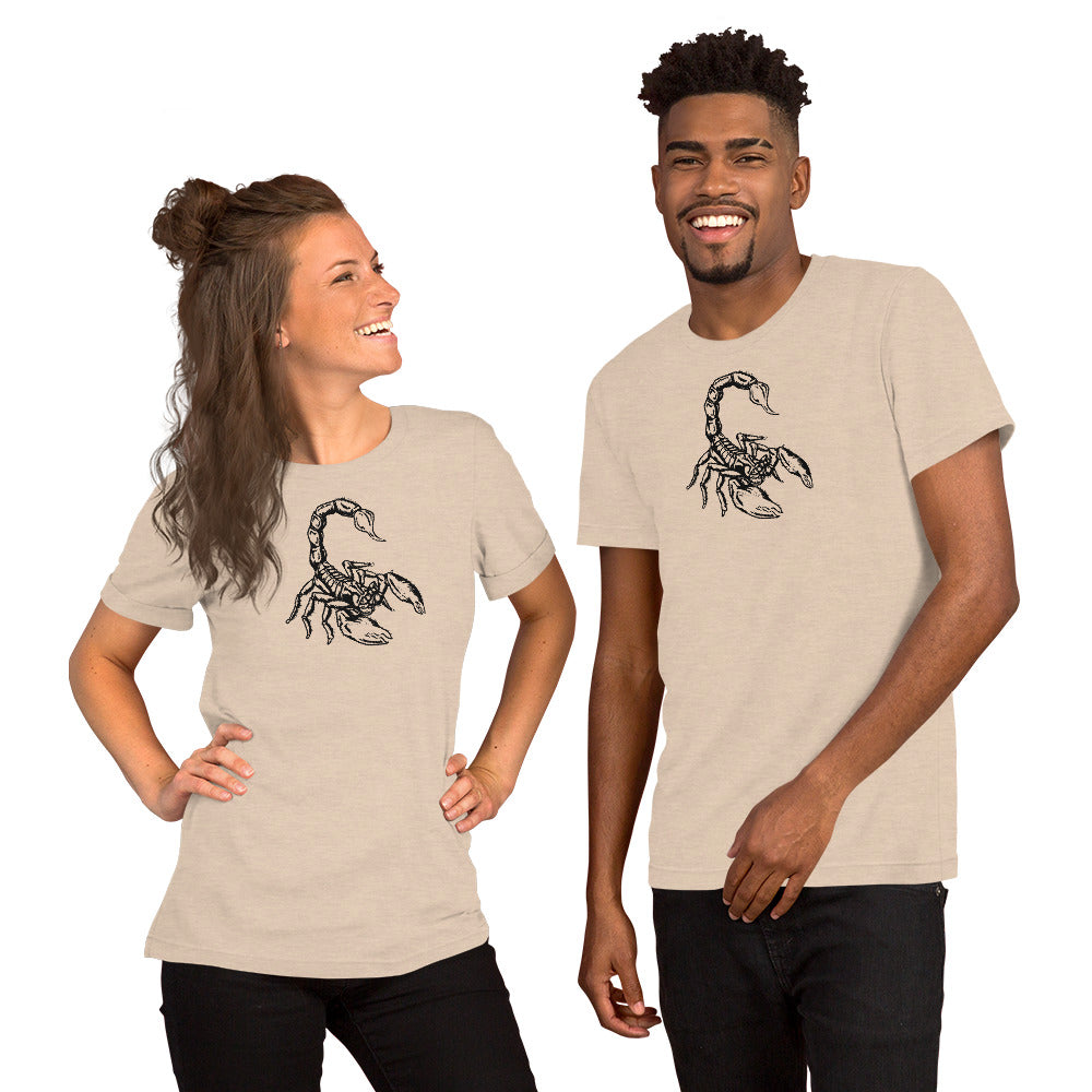 Scorpion Short-Sleeve Unisex T-Shirt - Hebkid Art