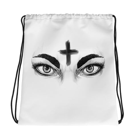 Ash Wednesday Drawstring bag