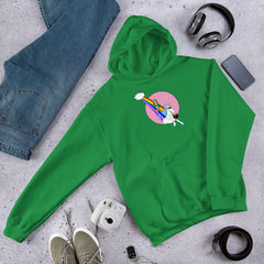 Leprechaun vs Unicorn Unisex Hoodie - Hebkid Art