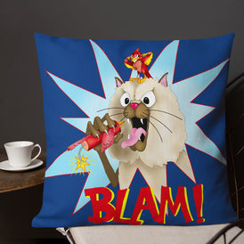 Blam! Premium Pillow - Hebkid Art