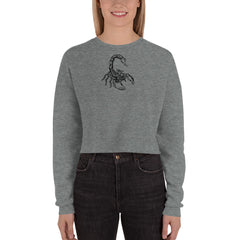 Scorpion Crop Sweatshirt - Hebkid Art
