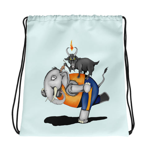 Evil Goat Yoga Drawstring bag
