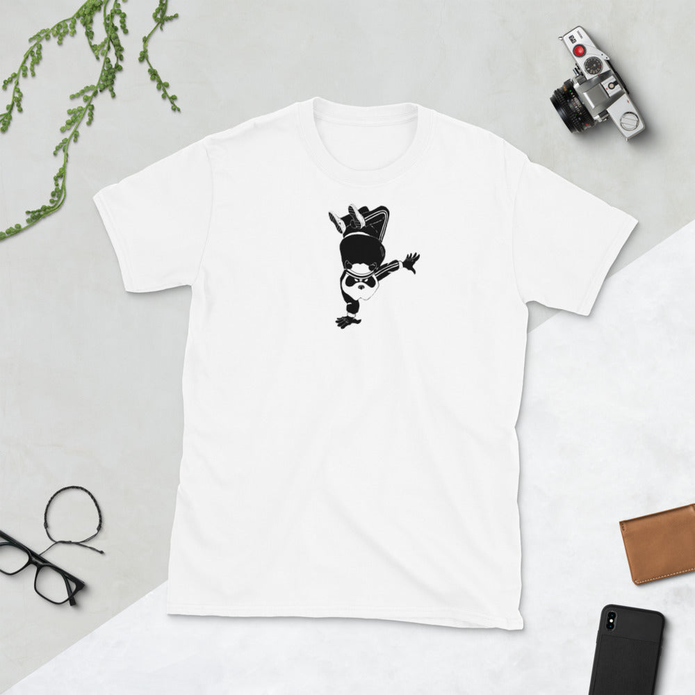 Breakdancin' Panda Short-Sleeve Unisex T-Shirt - Hebkid Art