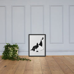Breakdancin' Penguin Framed poster
