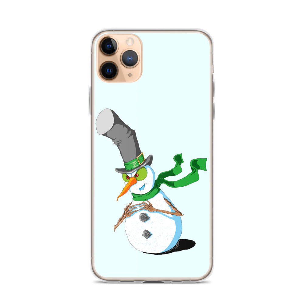 Plotting Snowman iPhone Case - Hebkid Art