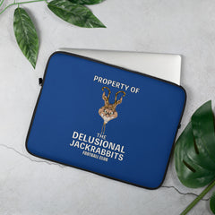 Delusional Jackrabbits Laptop Sleeve - Hebkid Art