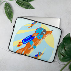 Rocket Fox Brigade Laptop Sleeve - Hebkid Art